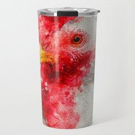 Watercolor Chicken, Chicken Painting, Chicken Decor, Chicken Art, Chicken Design, Hen Travel Mug