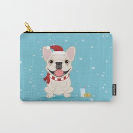French Bulldog Waiting for Santa - Cream Edition Carry-All Pouch