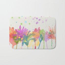 dp059-1 Watercolor flowers Bath Mat