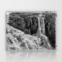 Black and White Beautiful Waterfall Laptop & iPad Skin