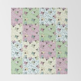 Pajama'd Baby Goats - Patchwork Throw Blanket