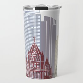 Boston skyline poster Travel Mug