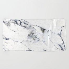 White Marble I Beach Towel