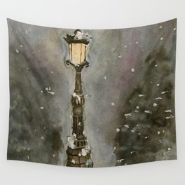 Lamp Post in Blue Wall Tapestry