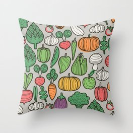 Farm veggies Throw Pillow