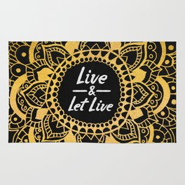Live And Let Live - Dark Rug