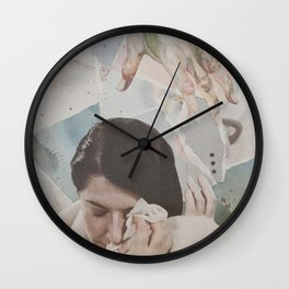 Composition II: Don't cry Marina Wall Clock