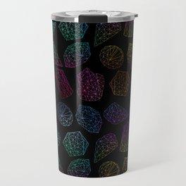 Low poly crystal pattern 2 Travel Mug