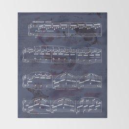 "Sheet Music - Debussy's ""Childrens Corner"" (Doctor Gradus ad Parnassum) Throw Blanket"