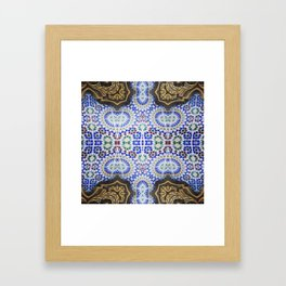 Marrocan Mozaic Framed Art Print