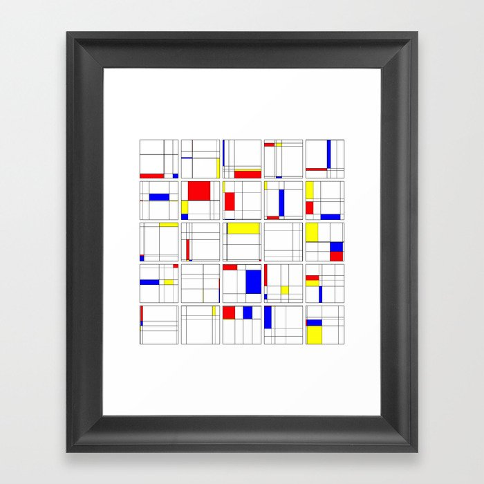 "Math Art Digital Print - ""mondRian"" Framed Art Print"