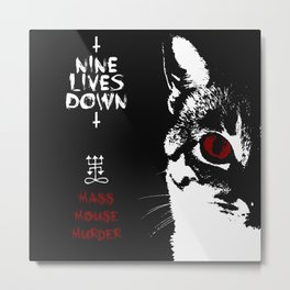 CAT METAL : Nine Lives Down - Mass Mouse Murder Metal Print