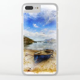 Row Your Worries Away Painting Clear iPhone Case