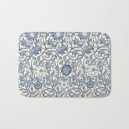 William Morris Navy Blue Botanical Pattern 6 Bath Mat