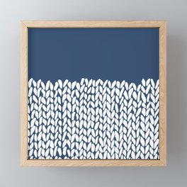 Half Knit Navy Framed Mini Art Print