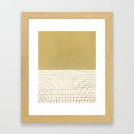 Yellow & Grid Framed Art Print