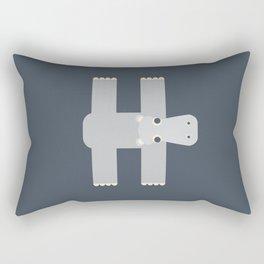 Letter H // Animal Alphabet // Hippo Monogram Rectangular Pillow