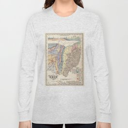 Vintage Geological Map of Ohio (1872) Long Sleeve T-shirt