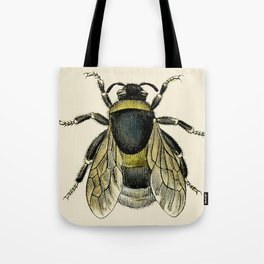 Vintage Bee Illustration Tote Bag