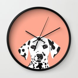 Casey - Dalmation art print phone case decor for pet lover and dog lover Wall Clock
