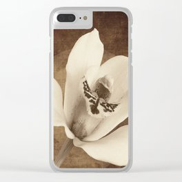 Vintage Flowers Digital Collage 12 Clear iPhone Case