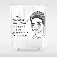 cactei Shower Curtains featuring Frida for Valentine's by ☿ cactei ☿