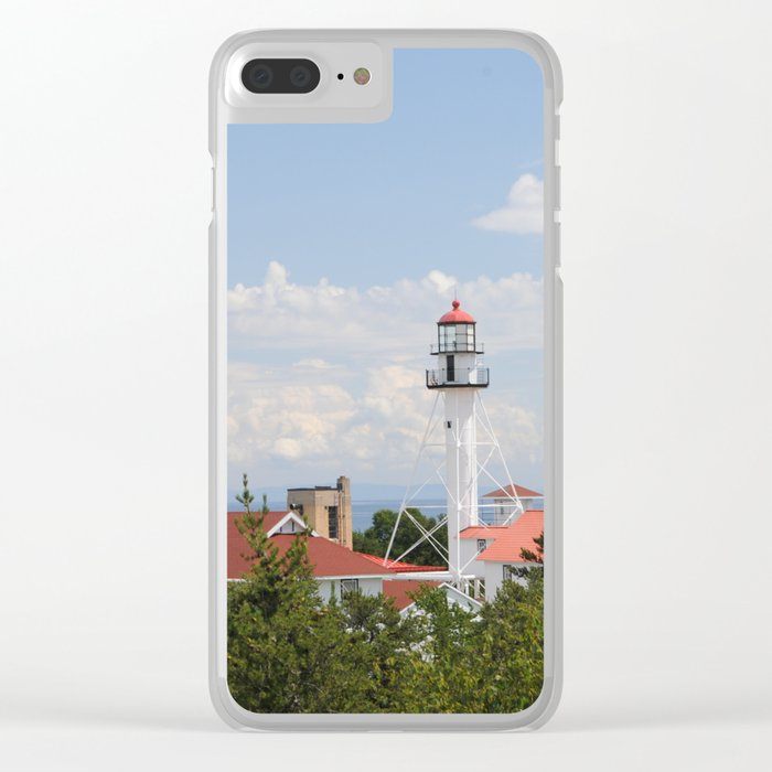 Whitefish Point Lighthouse - Lake Superior Clear iPhone Case