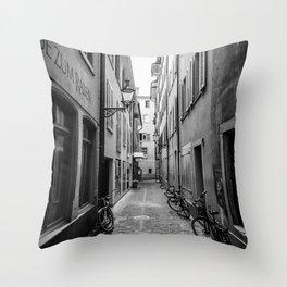 European Stroll Throw Pillow