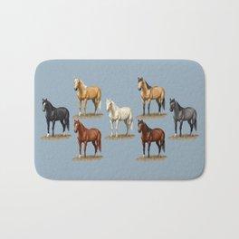 Horse Common Solid Coat Colors Chart Bath Mat