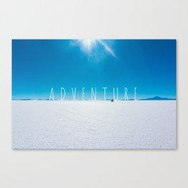 Adventure on the Salt Flats, Bolivia Canvas Print