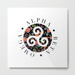 Alpha Beta Omega Metal Print