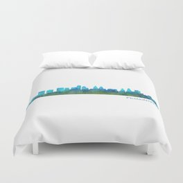 Philadelphia City Skyline Hq V1a Duvet Cover
