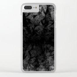 Abstract Radial Gradation Clear iPhone Case