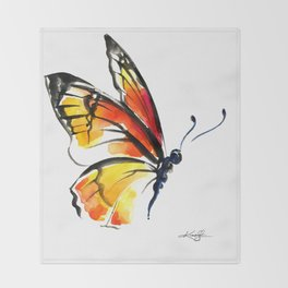 Monarch No. 3 by Kathy Morton Stanion Throw Blanket