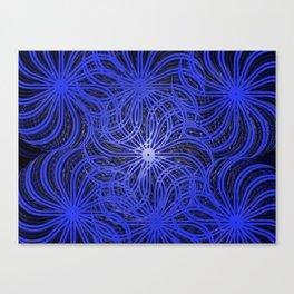 Cobalt Pinwheels Canvas Print