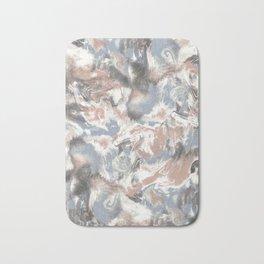 Marble Mist Terra Cotta Blue Bath Mat