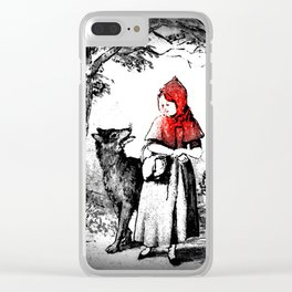 Hey there little red riding hood Clear iPhone Case
