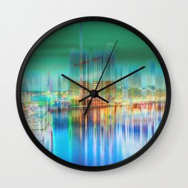 Amsterdam Habor by night Wall Clock