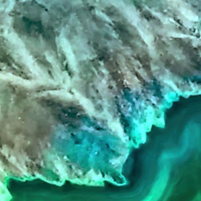 Turquoise Green Agate Mineral Gemstone Leggings