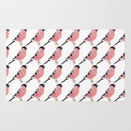 Siberian Bullfinch (white palette) Rug
