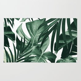 Tropical Jungle Leaves Pattern #4 #tropical #decor #art #society6 Rug