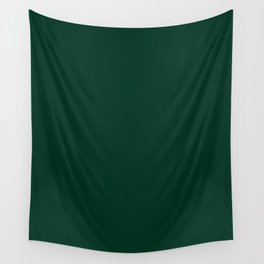 Deep Green Wall Tapestry