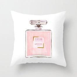 Classic Pink Parfum Perfume Fashion Cute Minimalism Throw Pillow