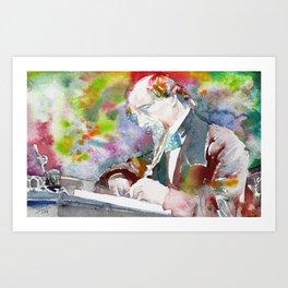 CHARLES DICKENS - watercolor portrait.5 Art Print