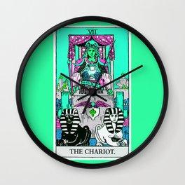 7. The Chariot- Neon Dreams Tarot Wall Clock