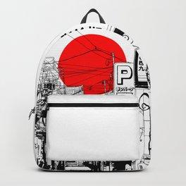 Tokyo street sunrise Backpack