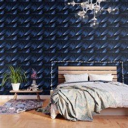 Succulent Leaf In Blue Color #decor #society6 #homedecor Wallpaper