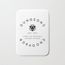 DUNGEONS & DRAGONS - WHERE THE IMPOSSIBLE BECOMES POSSIBLE Bath Mat