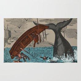 Whalers  Vintage Ocean Art Rug