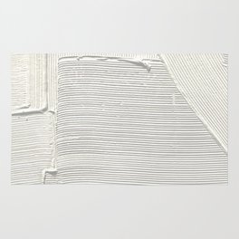 Relief [2]: an abstract, textured piece in white by Alyssa Hamilton Art Rug